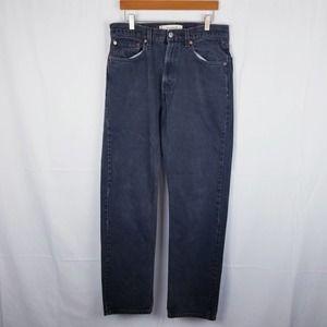 Levi's Men's 505 Regular Fit Jeans Black 32x32